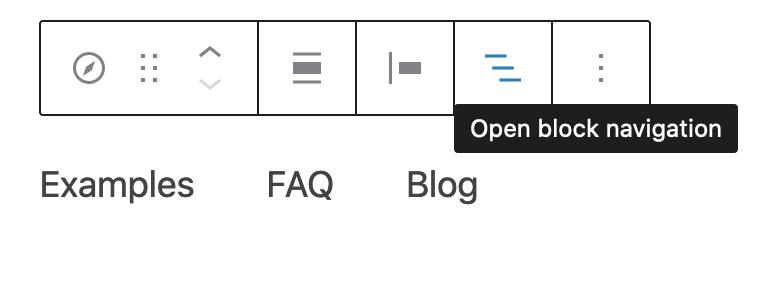 block navigation menu change slide order
